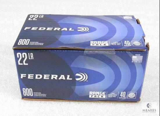 800 Rounds Federal .22LR 40 Grain Ammo 1200 FPS Range Pack