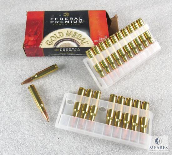 22 Rounds Federal .308 WIN 168 Grain Sierra Matchking BTHP Ammo