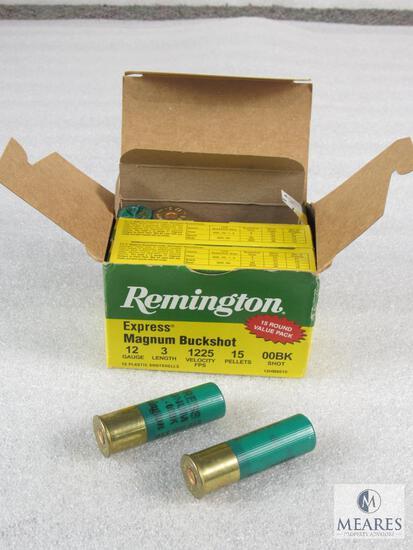 """15 Rounds Remington Express Magnum Buckshot 12 Gauge 3"""" 15 Pellets 00BK 1225 FPS"""