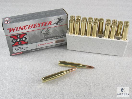 20 Rounds Winchester .270 WIN 150 Grain Power-Point Ammo