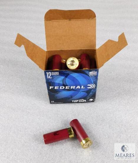 "25 Rounds Federal Top Gun 12 Gauge 2-3/4"" 1-1/8 oz 7-1/2 Shot Shotshells"