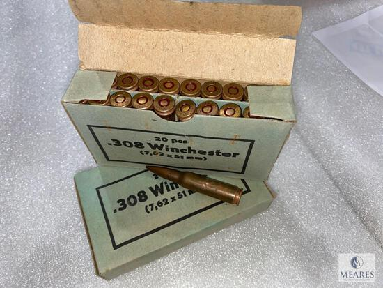 40 Rounds .308 Winchester 7.62 x 51 Brass Case
