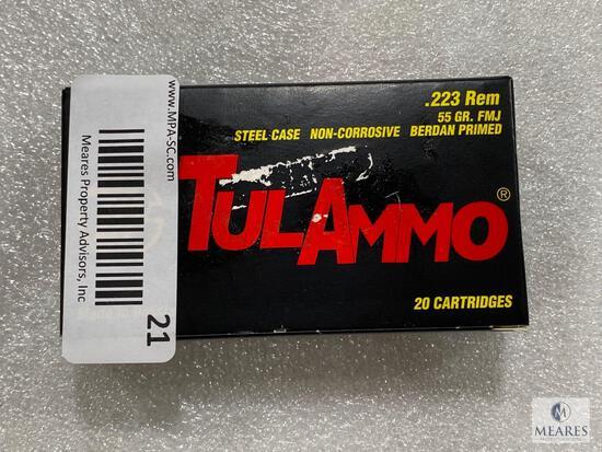 20 Rounds TulAmmo .223 REM 55 Grain FMJ