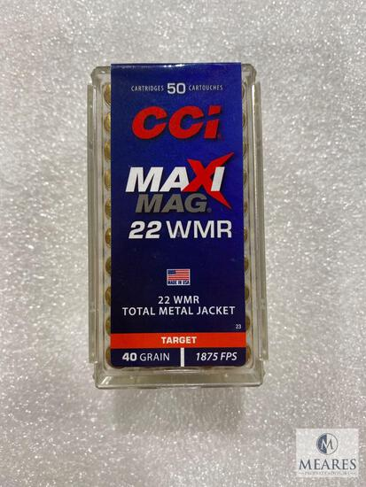 50 Rounds CCI 22 WMR 40 Grain 1875 FPS Total Metal Jacket