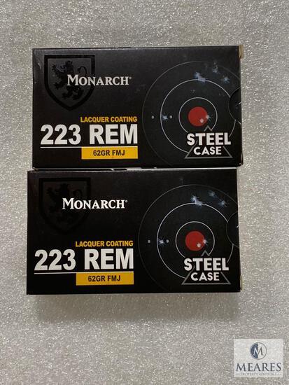 40 Rounds Monarch .223 REM Steel Case 62 Grain FMJ