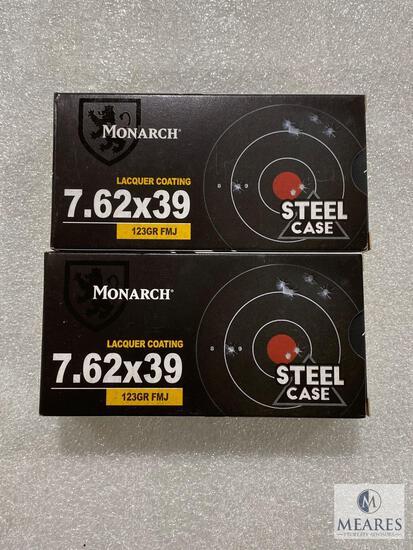40 Rounds Monarch 7.62 x 39 Steel Case 123 Grain FMJ