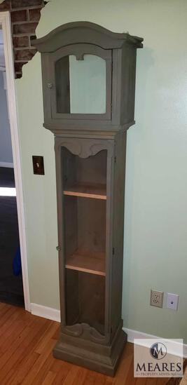 Wood Clock Tower Decorative Shelf / Bookcase