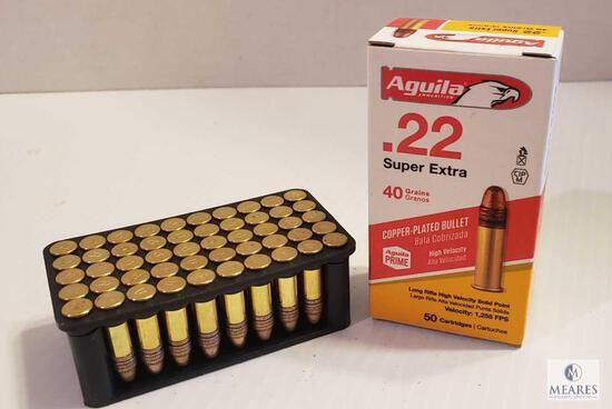 50 Rounds Aguila Super Extra .22 LR 40 Grain Copper Plated Ammo