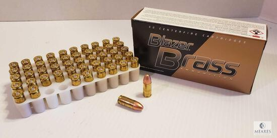 50 Rounds Blazer Brass 9mm Luger 115 Grain FMJ Ammo