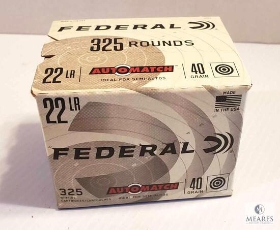 325 Rounds Federal Auto Match .22 LR 40 Grain Ammo