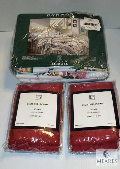 Living Legacies Queen 4 piece Sheet Set & 2 Cozy Collection Shams