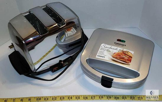 Cuisinart Sandwich Grill & Sunbeam Contemporary Classics Toaster