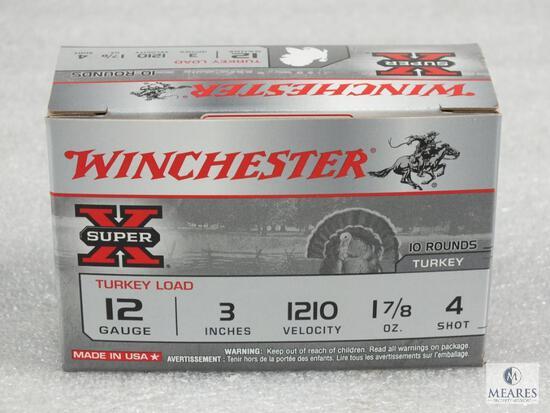 "10 rounds Winchester .12 gauge 2 3/4"" #4 shot 1260FPS Turkey load."
