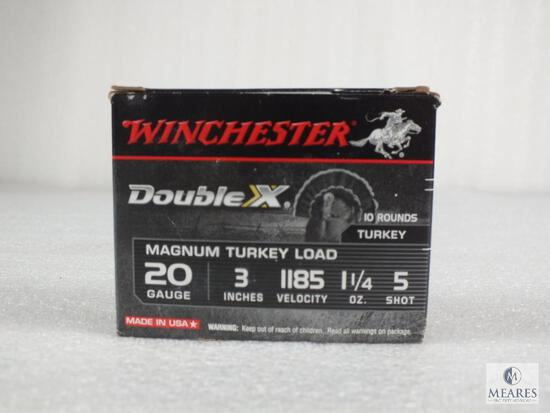 "10 rounds Winchester .20 gauge 3"" #5 shot shotgun shells. 1185 FPS Turkey load magnum."