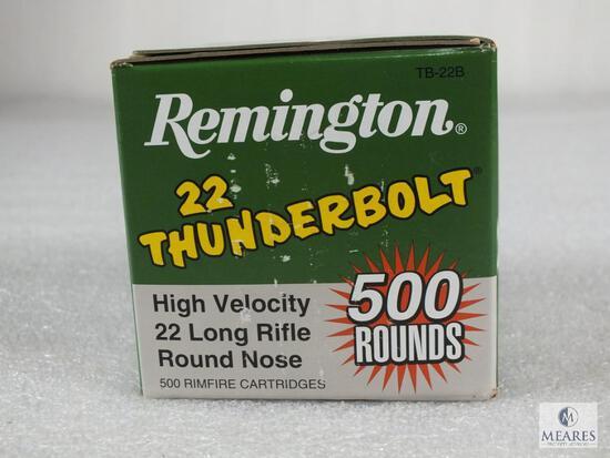 500 rounds Remington Thunderbolt .22 long rifle ammo. 40 grain 1255 FPS high velocity.