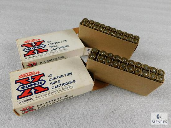 40 Rounds Western Super-X .223 REM 55 Grain FMC Ammo (2 boxes of 20 each)