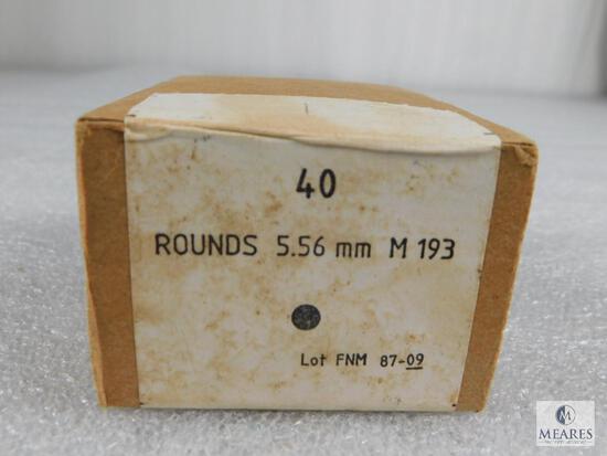 40 Rounds FNM 5.56mm M193 55 Grain FMJ Ammo
