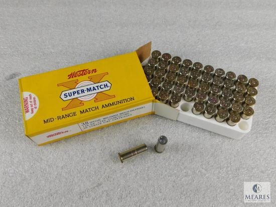 50 Rounds Winchester Super-Match .38 Special 148 Grain Lead Mid-Range Clean Cutting Ammo