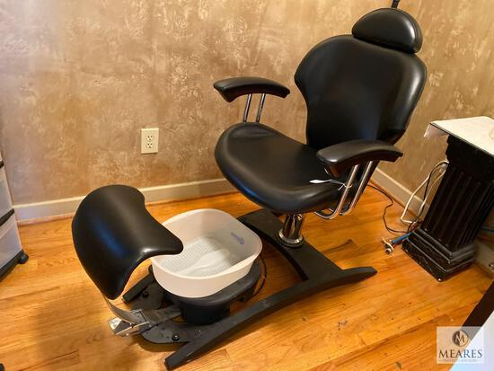 Pedicure Chair with Belava Foot Spa - No Plumbing Required