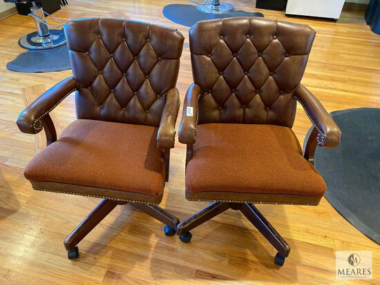 Lot of Two Matching Vintage Planto Furniture Office Chairs
