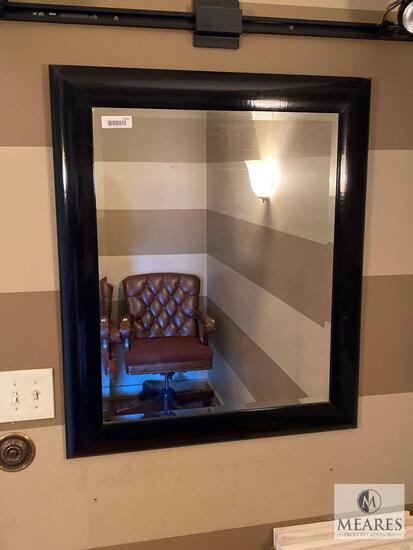 Framed Mirror with Beveled Edge