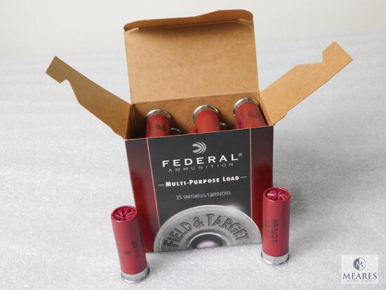 25 Round Federal 12 Gauge 2-3/4 Inches #8 Shot Ammo