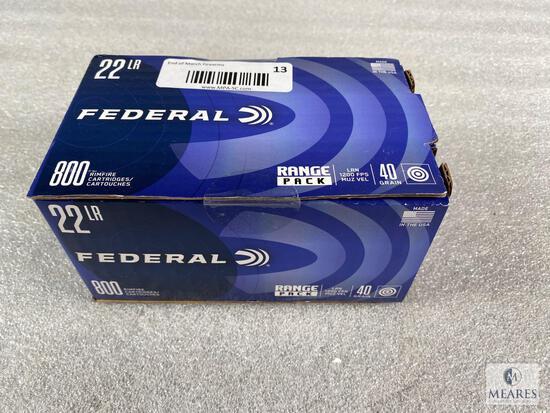 Federal 22 LR 800 Round Range Pack