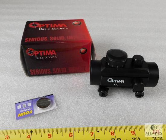 New Optima 30mm Red Dot With Adjustable Brightness Levels and Weaver Style Mount
