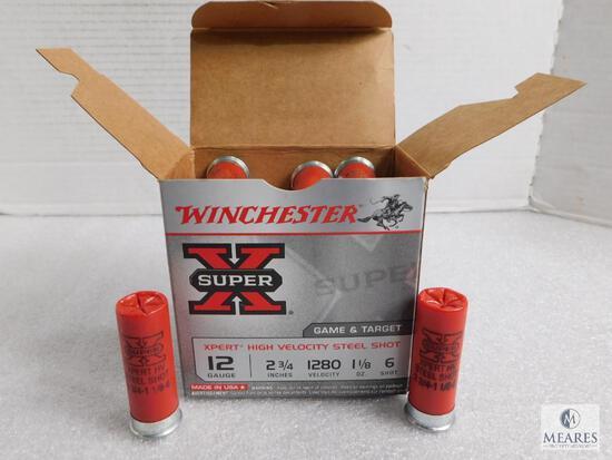 "25 Rounds Winchester 12 Gauge 2-3/4"" 1-1/8 oz 6 Shot Shells"