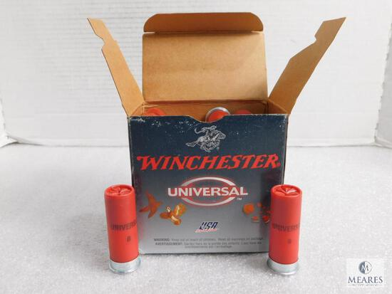"25 Rounds Winchester 12 Gauge 2-3/4"" 1-1/8 oz 8 Shot Shells"