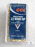 50 Rounds CCI Maxi-Mag .22 WMR HP 40 Grain 1875 FPS Ammo