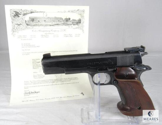 1965 Colt .38 Special Kit Gun Semi-Auto Pistol w/ Colt Archive Letter 8th Infantry Captain US Forces