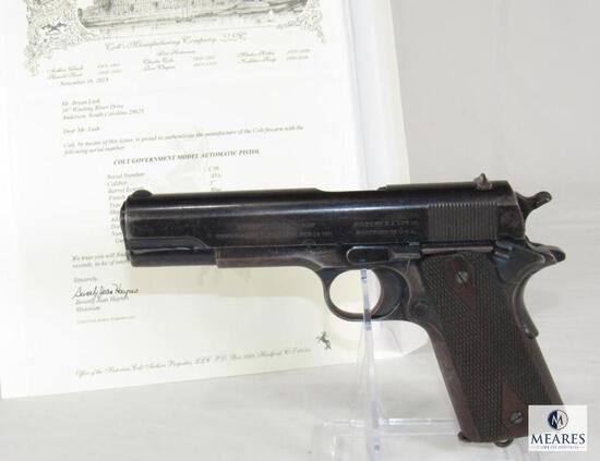 *RARE 2 DIGIT SERIAL COLLECTOR'S DREAM FIND* Colt 1911 .45 Semi-Auto Pistol w/ Archive