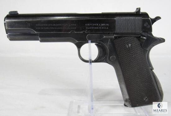 *RARE 5 DIGIT SERIAL # 1913 Colt 1911 .45 Semi-Auto w/ Archive Letter to Commanding Officer