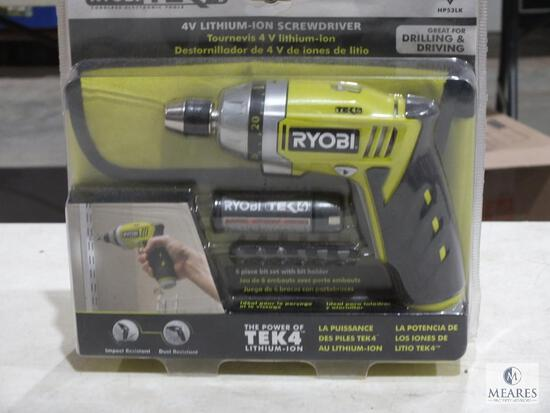 New Ryobi TEK4 4V Lithium-Ion Screwdriver