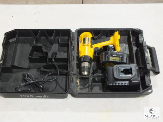 Dewalt DW995 18 Volt Cordless Drill with Battery, Charger & Case
