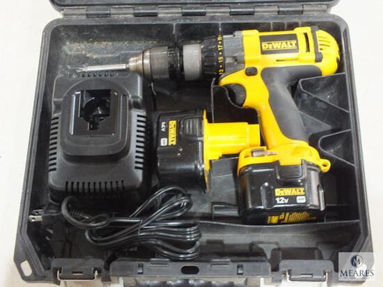 Dewalt DC980 12 Volt Cordless Drill with (2) Batteries, Charger & Case
