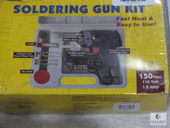 New Northern Industrial Soldering Gun Kit 150 Watt 1.2 Amp 110 Volt