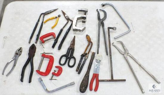 Lot of Miscellaneous Hand Tools - Snips, Pliers, Clamps and more