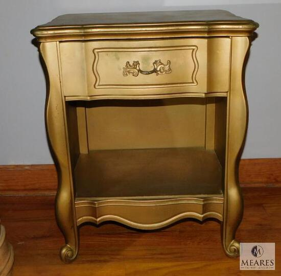 Vintage Huntley Furniture French Provincial Style Nightstand