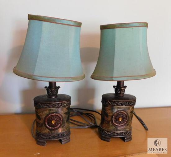 Pair of Matching Small Accent Lamps