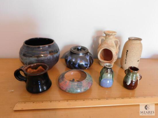 Lot of Pottery Stoneware -Bowls, Vases, and mug