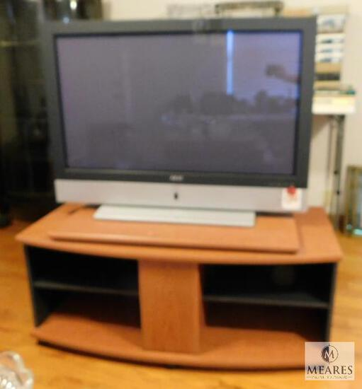 """Akai 42"""" Flat-screen TV and Stand with Rotating Top"""