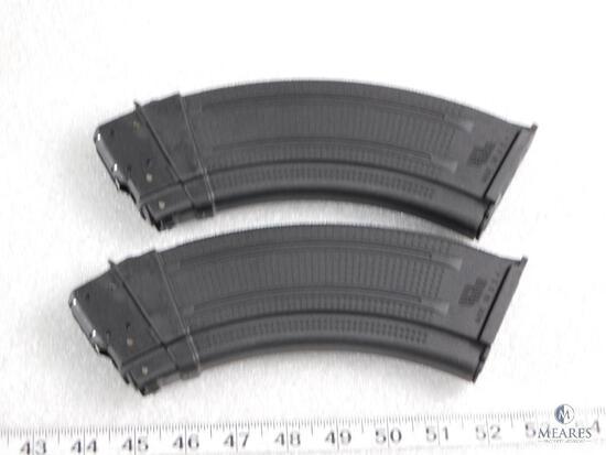 Two new 30 round AK47 7.62x39 rifle magazines