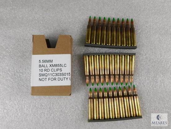 5.56 MM Ball 10 Round Clips 30 Rounds Total