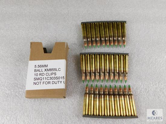 5.56MM Ball 10 Round Clips 30 Rounds In Total
