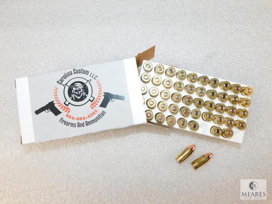 50 Rounds 9mm 115 GR FMJ