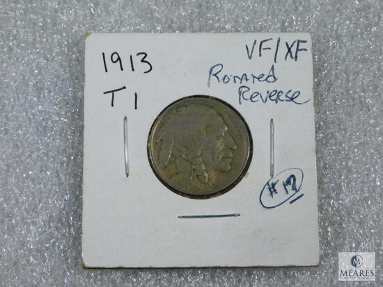 1913 T-I Buffalo Nickel VF/XF