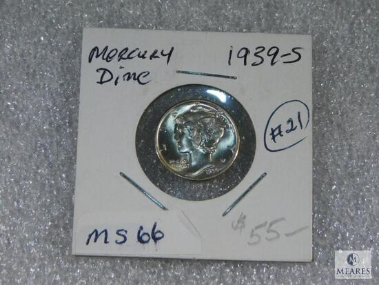 1939 - S Mercury Dime