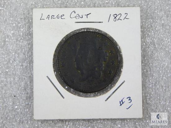 1822 Large Cent - 13 Stars